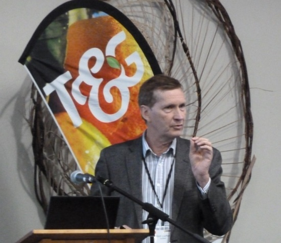 Mark Loeffen presenting at a NZCGI Conference